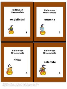 Halloween Word Unscramble: The objective of these 40 Halloween writing cards is to unscramble the Halloween words. A Halloween writing response form for students and an answer key for teachers are included. Have fun and save time with these Halloween writing task cards. Engage in Halloween writing beccause the season won't last long!