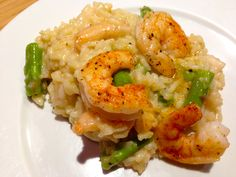 Shrimp and Asparagus Risotto