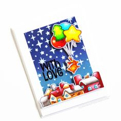 Stamps: Balloon Bunch Christmas, Saying Stuff / Stencils: Sprinkled Stars Christmas Balloons, Clear Stamps, Sprinkles, Elf, Snowman, Card Ideas, Stencils, Backdrops, Stars