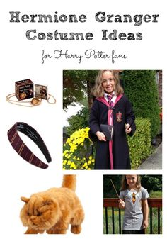 Hermione Granger Costume Ideas for Harry Potter Fans including a Gryffindor Headband and Crookshanks Hermione Halloween Costume, Hermione Granger Costume, Harry Potter Halloween, Halloween Costumes, Funny Pumpkin Carvings, Harry Potter Invitations, Crookshanks, Pumpkin Images, Harry Potter Food