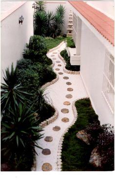 Japanese style garden design.