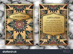 Invitation Card Design Template. Vintage Decorative Elements With Mandala, Delicate Floral Pattern. Islam, Arabic, Indian, Ottoman, Aztec Motifs Стоковая векторная иллюстрация 540722257 : Shutterstock