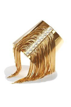 Shake It Off: No need to adorn yourself with any other jewels when you wear Ca & Lou's standout Fringe Allover Cuff Bracelet.