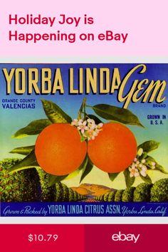 *Original* REDLANDS JOY Art Deco ORIGINAL Bryn Mawr Orange Label NOT A COPY!!