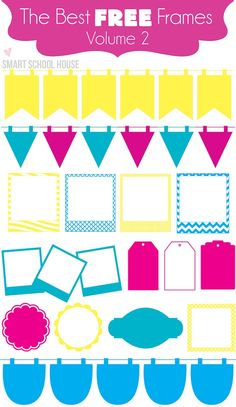 """The Best FREE Frames (vol 2) on www.smartschoolhouse.com #fonts  ~~ {easy download links to 2 free """"frame"""" fonts}"""
