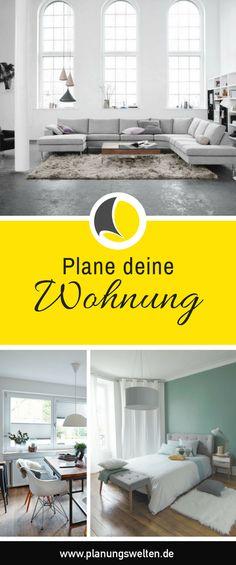 Ob erste eigene Wohnung, Umzug oder einfach mal was Neues. Mit unseren Planern kannst du deine Wohnungseinrichtung im Nu gestalten. - Planungswelten www.planungswelten.de