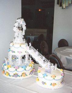 Before I Discovered Fondant! Beautiful Nature Pictures, Elegant Wedding Cakes, Fondant, Cake Decorating, Wedding Day, Birthday Cake, Desserts, Vintage Weddings, Kitsch