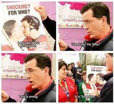 Love Stephen Colbert!