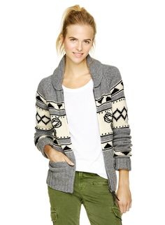 TNA SEA-TO-SKY SWEATER - Inspired by Northwest Coast knits with a custom Spiro intarsia