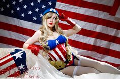 Captain America Pinup Cosplay http://geekxgirls.com/article.php?ID=1763