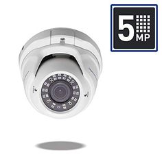 MorphXStar Security 5 Megapixel Pixel Super HD High Definition Outdoor/Indoor PoE Weatherproof IP Dome Camera with Wide Angle Lens - White Dome Camera, Kenny Chesney, Wide Angle Lens, Security Camera, High Definition, Sony, Indoor Outdoor, Universe, Amazon