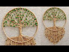 "DIY Atrapasueños ""ARBOL DE LA VIDA""( paso a paso) | DIY Dreamcatcher ""TREE OF LIFE"" - YouTube Macrame Wall Hanging Patterns, Macrame Patterns, Diy Crafts To Sell, Fun Crafts, Dream Catcher Decor, Rope Crafts, Macrame Design, Macrame Projects, Jewelry Making Tutorials"