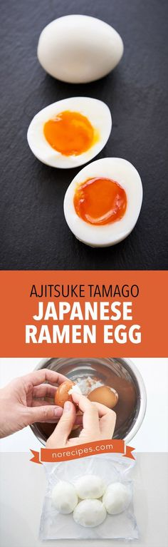 Ajitsuke Tamago (味付け卵), better known as ramen eggs, are first soft-boiled before being marinated in a sweet and savory broth. The perfect topping for a bowl of ramen noodles. #egg #boiledegg #ramen #japaneesefood