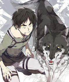 Tags: Anime, Pixiv, Black Akazome, Shingeki no Kyojin, Eren Jaeger