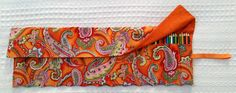 Extra Large Colored Pencil Pencil Roll by BettyAldermanDesigns