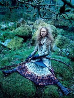 visual optimism; fashion editorials, shows, campaigns & more!: into the woods: raquel zimmermann by mikael jansson for us vogue september 2015