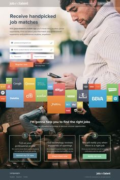Marketing Landing Page by Jaime de Ascanio - Web Design Website Layout, Web Layout, Layout Design, Game Design, Web Ui Design, Graphic Design, Print Design, Gui Interface, Interface Design