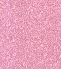 Keepsake Calico™ Cotton Fabric-Scribble Flowers Pink