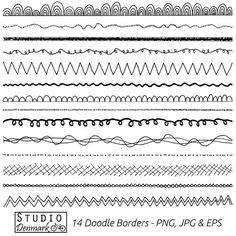 ♥ Was Sie bekommen ♥  Dieses Clipart-Set enthält 14 authentisch von hand gezeichnete Blumen Doodle Grenzen, wie abgebildet. Sie erhalten für jedes Bild ein PNG mit transparentem Hintergrund und ein JPG mit weißem Hintergrund, 28 Dateien insgesamt. Jedes Bild ist 300 dpi und 10 Zoll lang