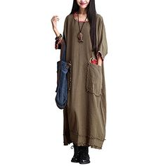 Katuo Traditional Plus Size Cotton Linen Dress Green Maxi Dress Half Sleeve KATUO http://www.amazon.com/dp/B00U8I13OQ/ref=cm_sw_r_pi_dp_Ssmivb03ZKARV
