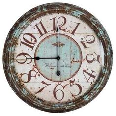 Get Large Rusty Turquoise Round Metal Wall Clock online or find other Wall Clocks products from HobbyLobby.com