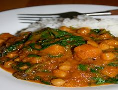 Try this tasty and healthy Curry with Butternut Squash, Chickpea and Spinach that will feed the family for a week!