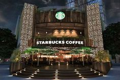 Starbucks in Vietnam. A very misleading depiction of the country. Restaurant Exterior, Cafe Restaurant, Starbucks Wallpaper, Coffee Shop Design, Photoshop, Coffee Photography, Business Inspiration, Starbucks Coffee, Project Management