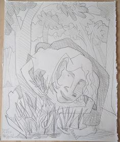 "Ramp Picker  graphite on paper, 16 x13"""