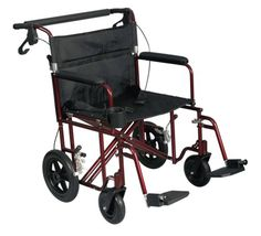 Medline Freedom Plus Ultralight Bariatric Transport Chair 22 Wide Wheelchair *** Click the VISIT button for detailed description