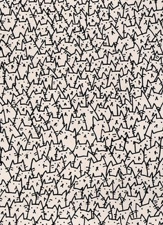 kitten pattern - omg so many cats - anerable, but #badphonewallpaper (too busy)
