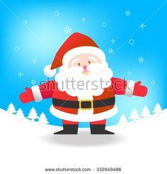 Santa Claus on blue background vector illustration for Christmas celebration