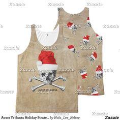 Avast Ye Santa Holiday Pirate Skull #3 All-Over Print Tank Top