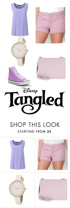 """""""Modern Rapunzel"""" by krushing409 ❤ liked on Polyvore featuring Lands' End, LC Lauren Conrad, Etienne Aigner, Converse and modern"""