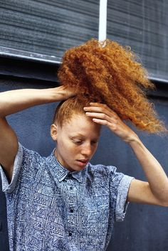 Red curls and freckles . Relaxed Hair, My Hairstyle, Cool Hairstyles, Hair Updo, Natural Hair Care, Natural Hair Styles, Natural Red, Big Hair, Your Hair