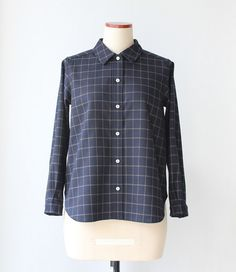 Wool check shirts by Negitoros on Etsy
