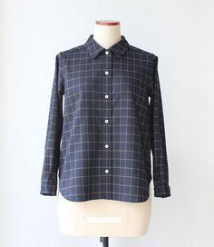 Wool check shirts by Negitoros on Etsy