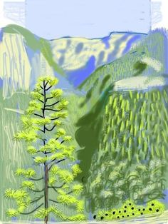 Mr. Hockney's use of childlike shapes and brilliant colors makes my eyes sing, and his novel use of technology inspires me to constantly str…via irene-turner.com blog post