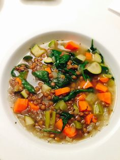 Lentil Veggie Soup | Here's What Real Healthy People Actually Eat For Lunch