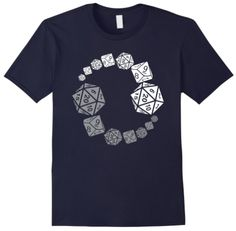 DnD and Pathfinder fans - this RPG shirt may be what you're looking for. Pen And Paper Games, Yin Yang Designs, Branded T Shirts, Dice, Grey And White, Fashion Brands, Fans, Mens Tops, Stuff To Buy