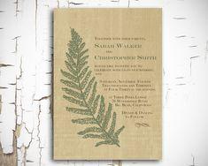 Rustic Woodland Fern Invitation - Printable DIY For Wedding Or Event Fern Wedding, Woodland Wedding, Diy Wedding, Rustic Wedding, Wedding Day, Wedding Stuff, Wedding Invitations, Invites, Invitation Ideas