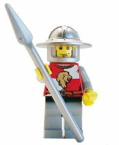 Lion Knight (Spear, Wide Helmet) - LEGO Kingdoms Minifigure by LEGO. $11.54 Lego Kingdoms, Lego Knights, Lego Castle, Lego Figures, Lego Building, Legos, Helmet, Fidget Spinners, Lego Minifigure