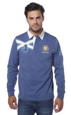 Seguimos aportando ideas para tu lista de reyes🎄🎁 Polo de chico en color azul por 62,91 euros Link directo para poder comprobar las tallas y disponibilidad aqui:  http://www.valecuatro.com/es/rugby/2727-rugby-h-cruz-azul.html