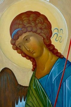 Whispers of an Immortalist: Holy Angels 7 Archangel Gabriel, Archangel Michael, Byzantine Icons, Byzantine Art, Religious Icons, Religious Art, Crafty Angels, San Rafael, Russian Icons