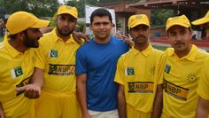 Test Cricketer Kamran Akmal With Disabled Cricketers