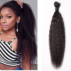 Brazilian Virgin Kinky Straight Hair Weave 3 Bundles 7A Yaki Straight Human Hair Extensions Natural Color100gbundle 24 24 24 ** Be sure to check out this awesome product-affiliate link. #BeautySalonEquipment