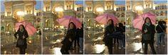 Ombrello rosa in Milan