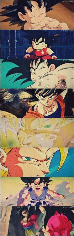 Dragon Ball Tutte le fasi di Goku