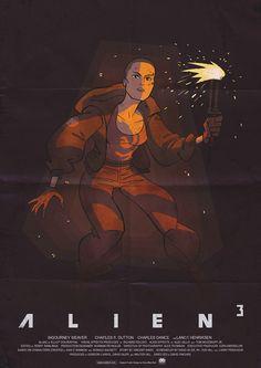 Alien 3 Ripley print