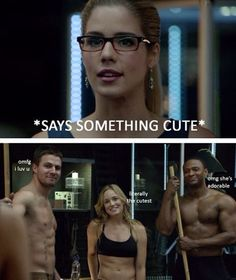Felicity is the only person on Arrow I could be and I'm 100% okay with that.