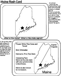 State Of Maine Coloring Page